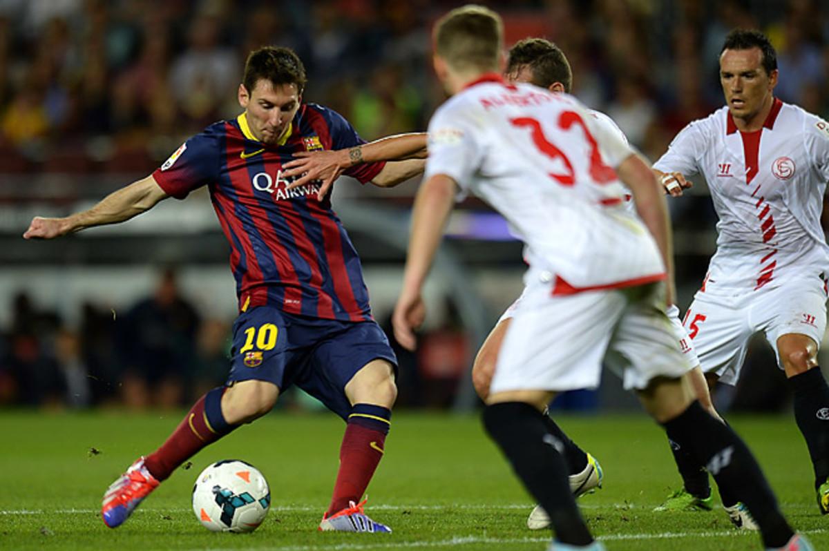 Lionel Messi's Barcelona remain undefeated in La Liga so far.