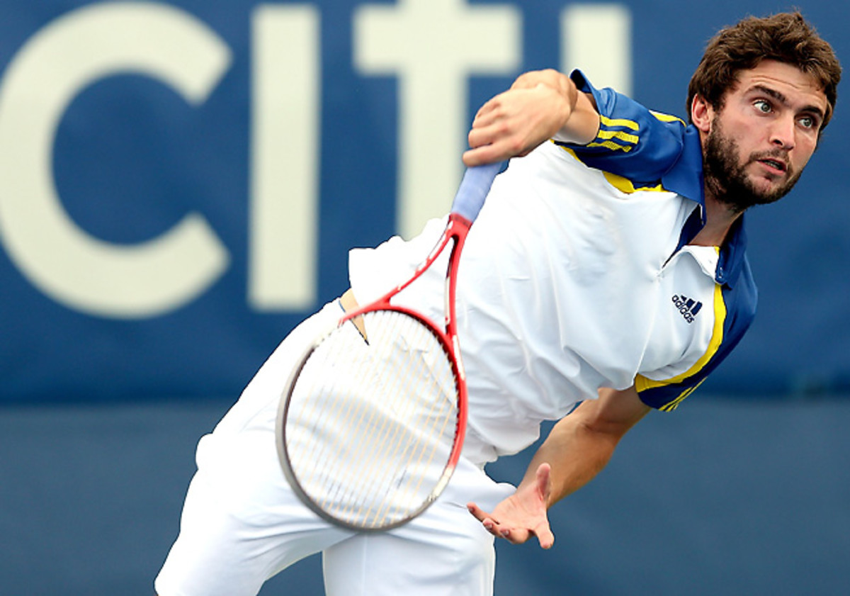 Gilles Simon has not faced a break point in two straight matches at the Open de Moselle.