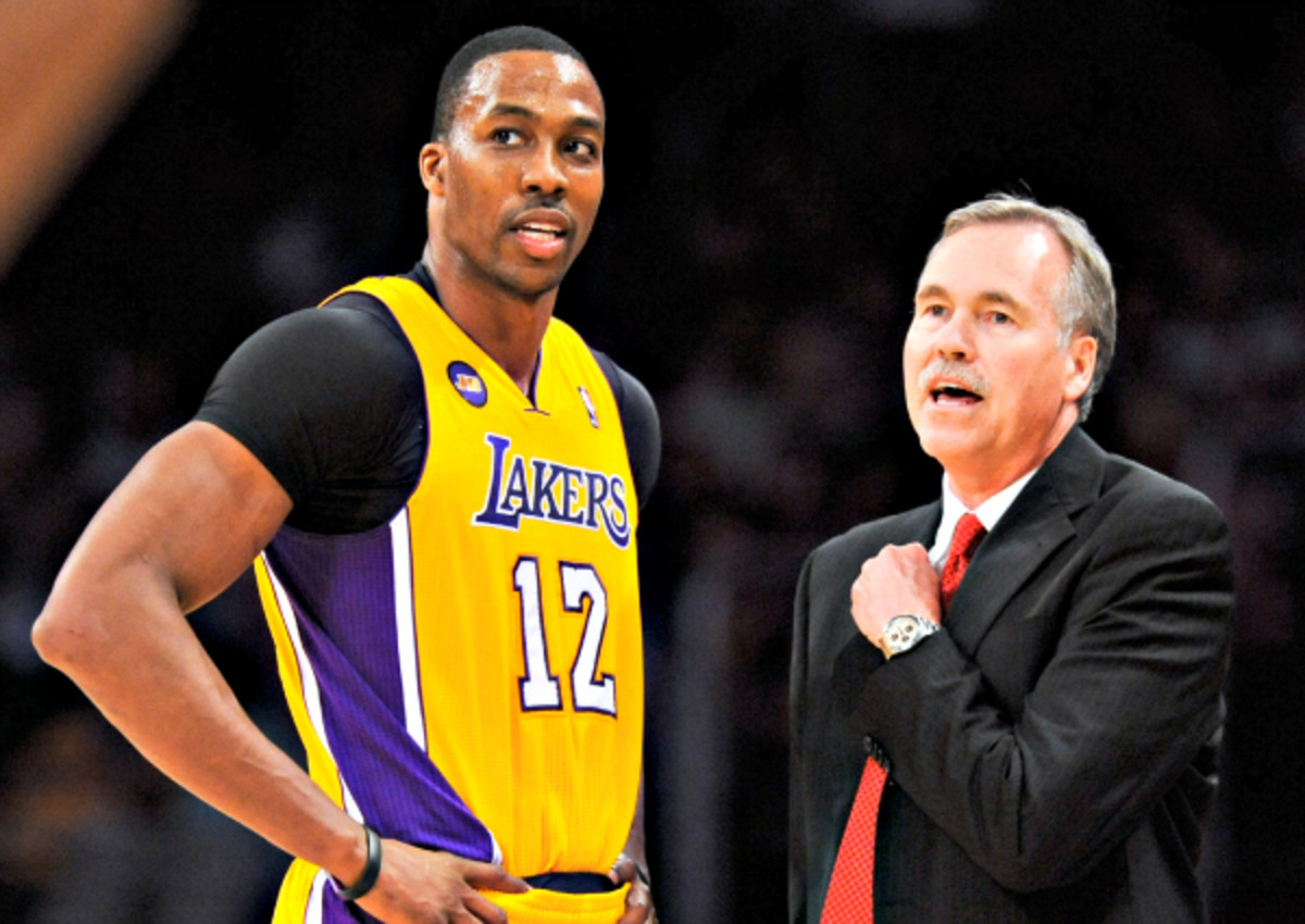 Dwight Howard elected to leave the Lakers (and head coach Mike D'Antoni) after a single season. (Noah Graham/NBAE via Getty Images)