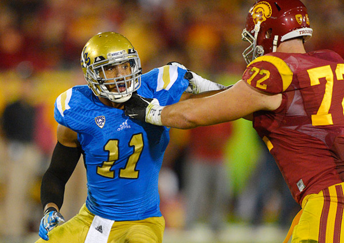 A converted running back, UCLA's Anthony Barr is tied for 12th in the country with 10 sacks this year.