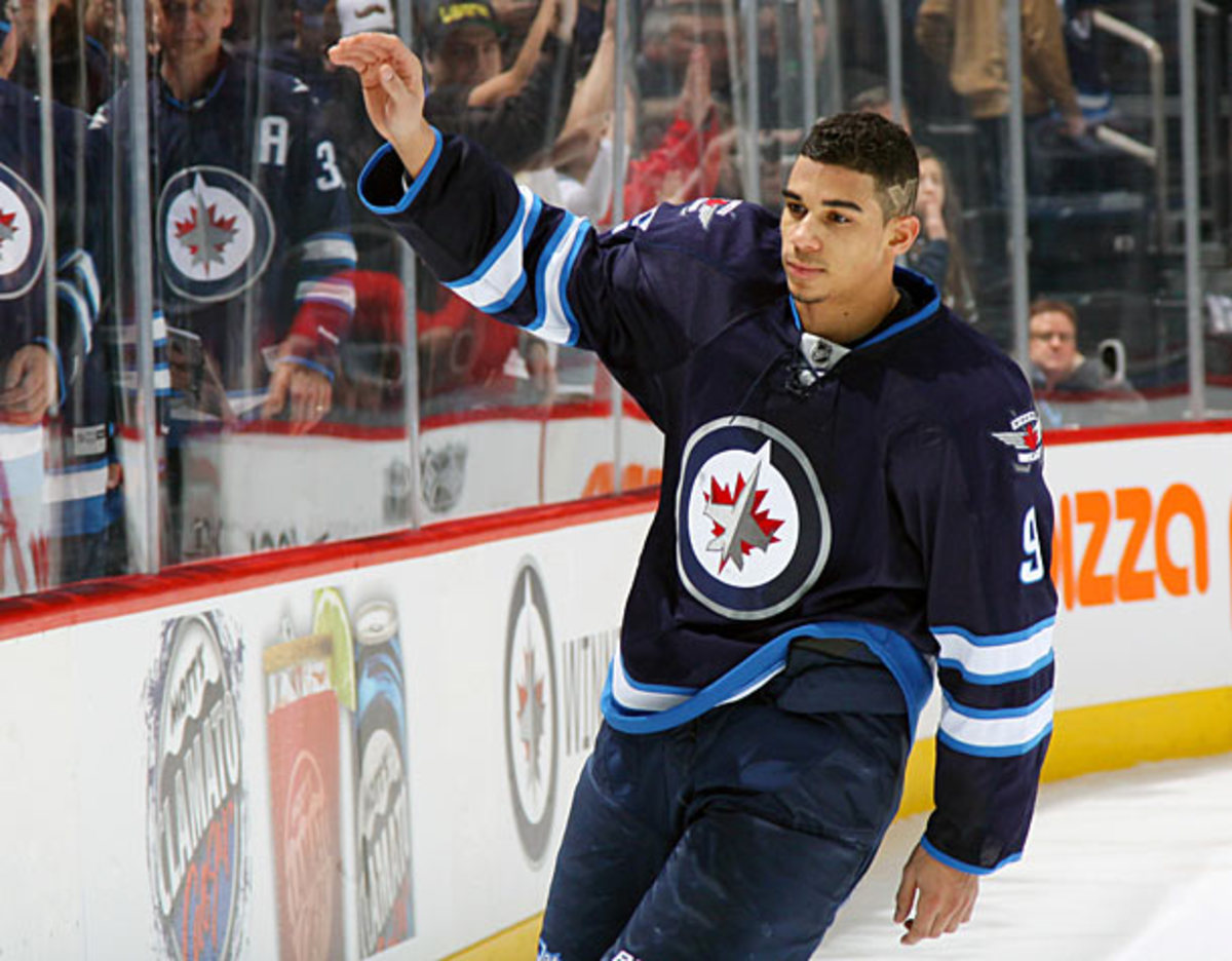 Evander Kane of the Winnipeg Jets