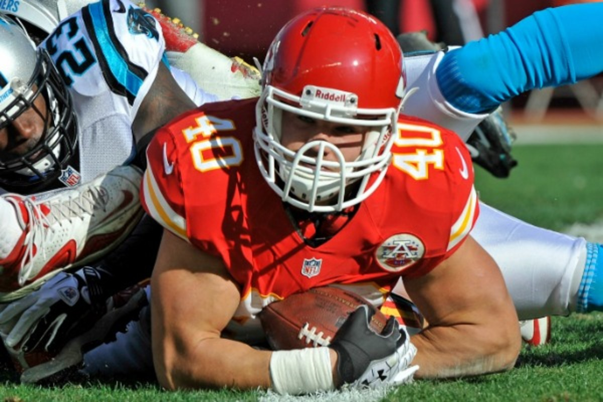 The Bucs hope Peyton Hillis can bounce back from a disappointing 2012 with the Chiefs.(Peter G. Aiken/Getty Images)
