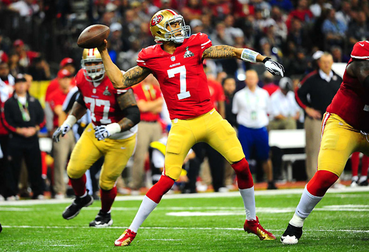 Without No. 1 receiver Michael Crabtree, Colin Kaepernick will have to throw to other options downfield.