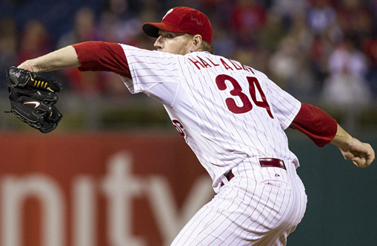 Roy Halladay is coming off a dreadful season interrupted by shoulder surgery and is 36 years old.