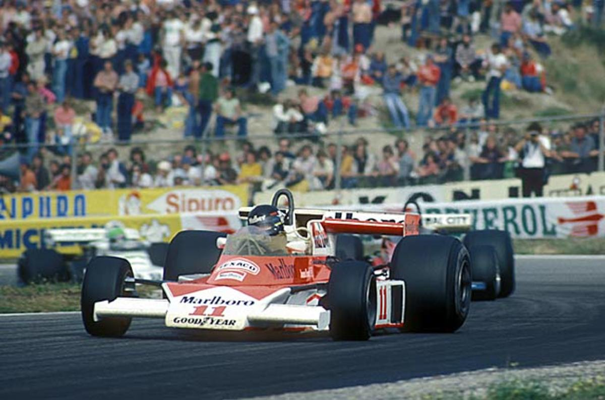 Rush subject James Hunt in action during the Grand Prix of the Netherlands in 1976
