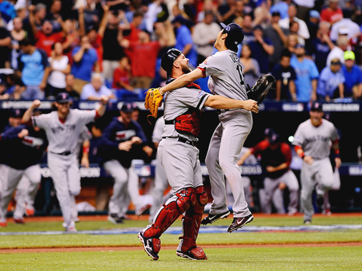 Koji Uehara recovered from surrendering a walkoff homer on Monday to log the save on Tuesday. (Brian Blanco/Getty Images)
