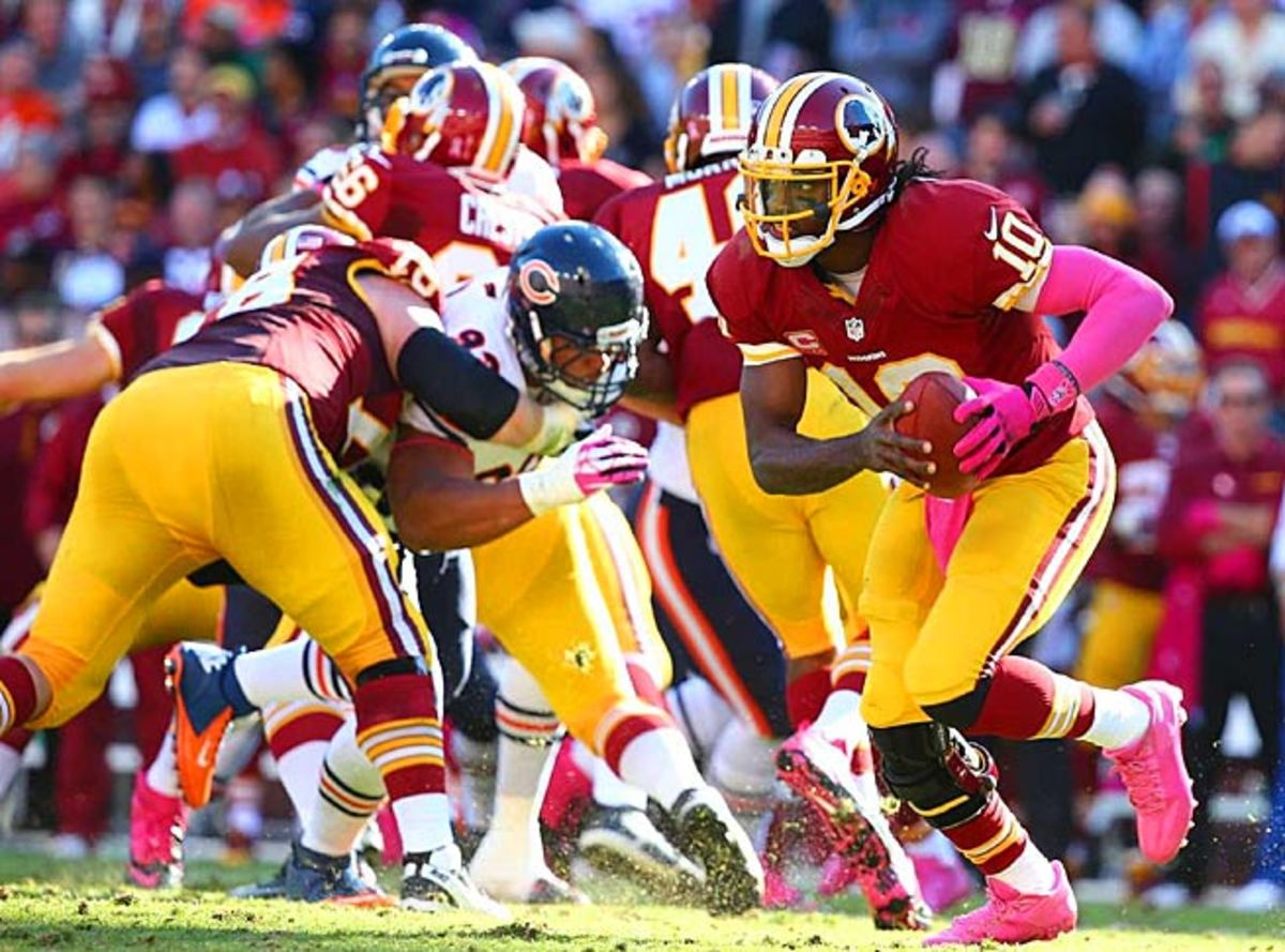 Robert Griffin III has amped up his rushing game over the last two weeks, and will continue vs. Denver.