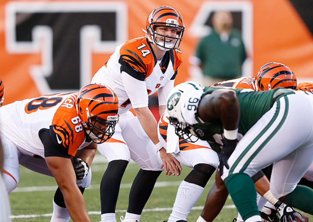 Andy Dalton has thrown for at least 300 yards and three touchdowns in two straight games.
