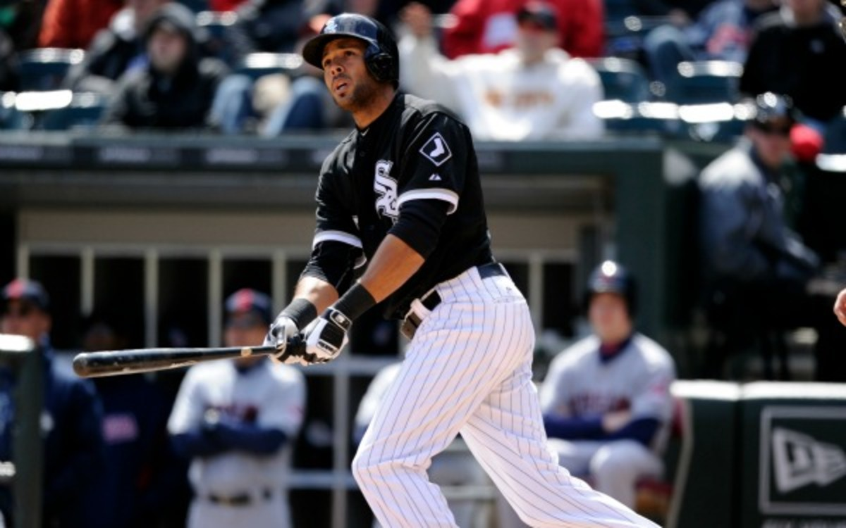 White Sox Alex Rios was traded to the Texas Rangers. (Ron Vesely/Getty Images)