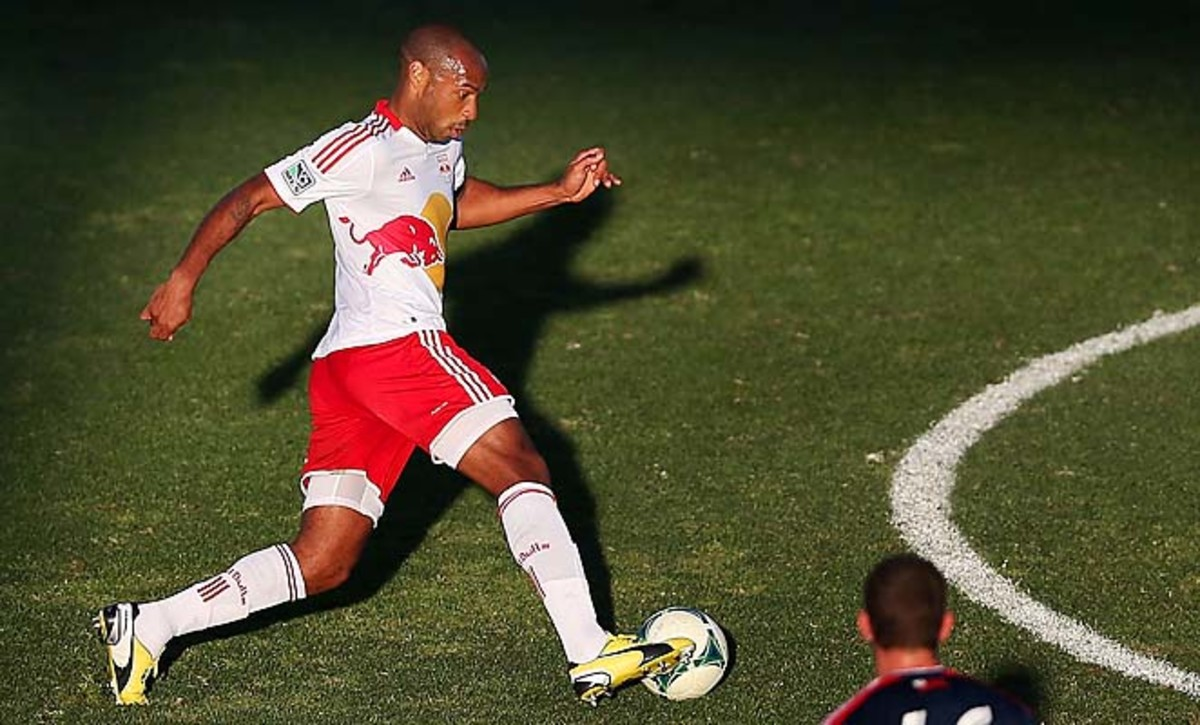 Thierry Henry and the Red Bulls open their season at Portland on Sunday.