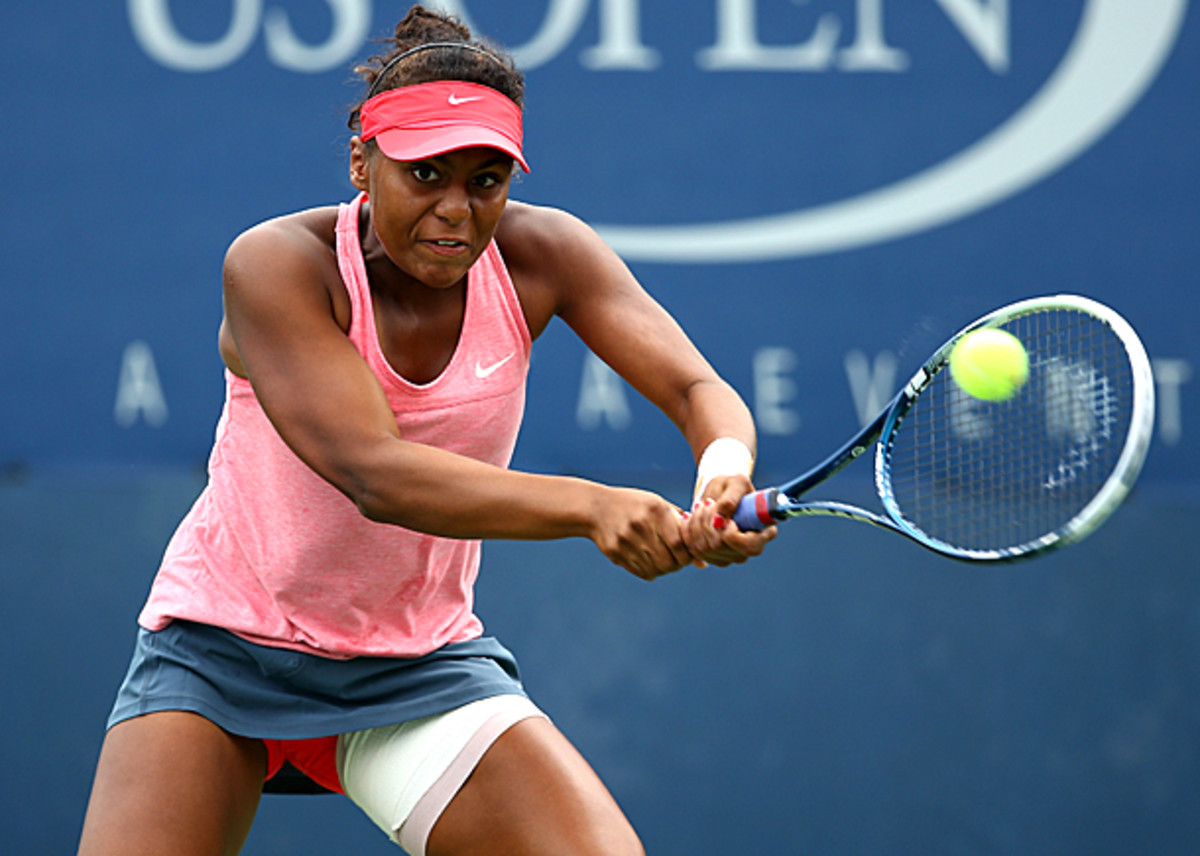 Tornado Alicia Black reached the finals of the U.S. Open girls' singles tournament this year. (Al Bello/Getty Images Sport)