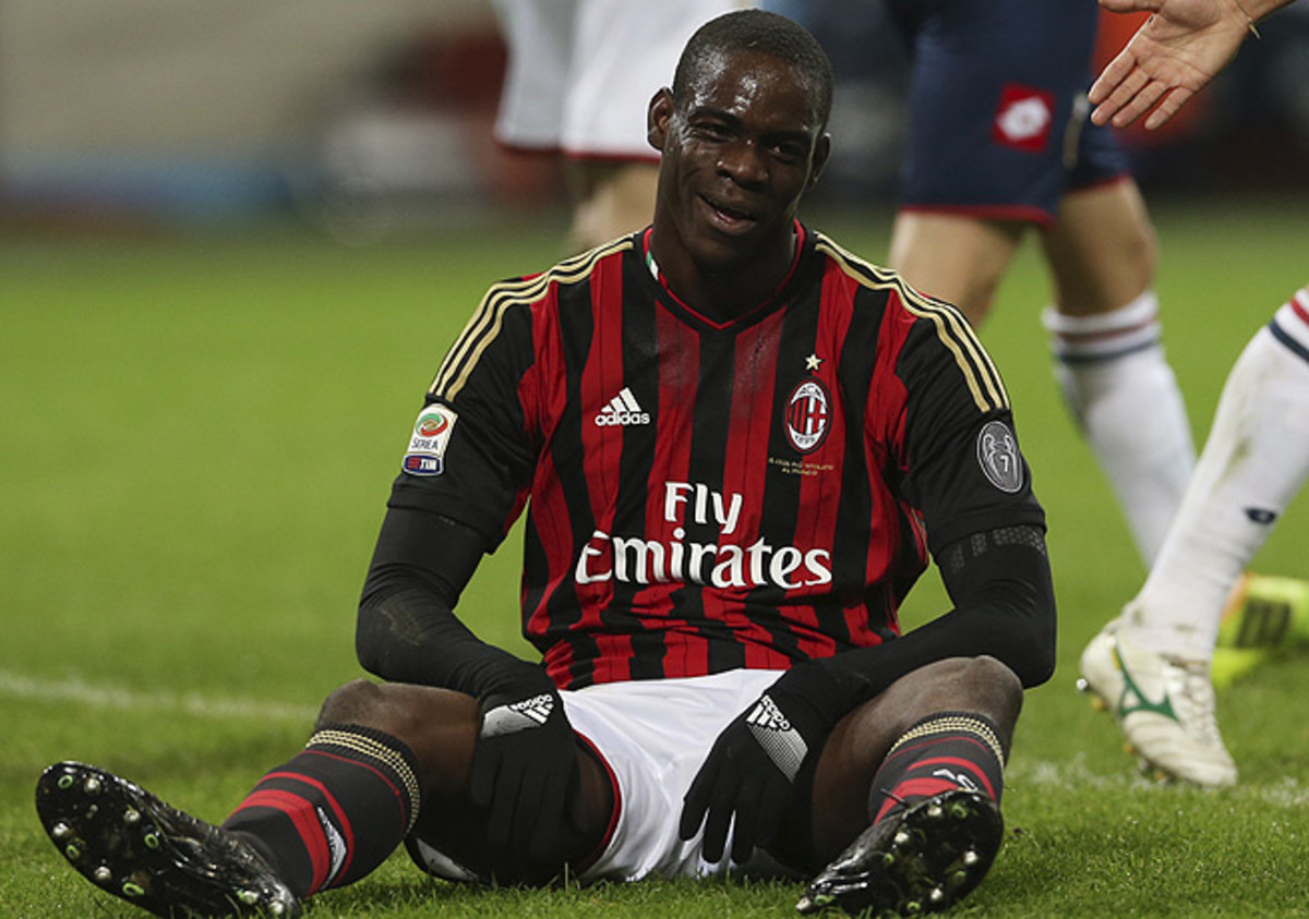 Mario Balotelli was not at his best and missed a penalty kick that would've given Milan the lead.