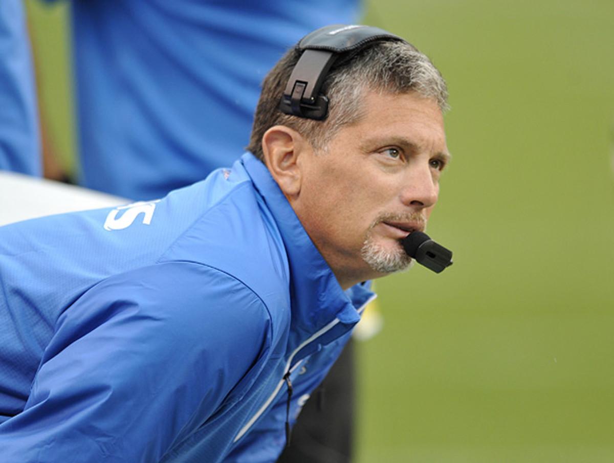 Despite a disappointing 2013 season, Jim Schwartz's tenure in Detroit might not be over. (David Richard/AP)