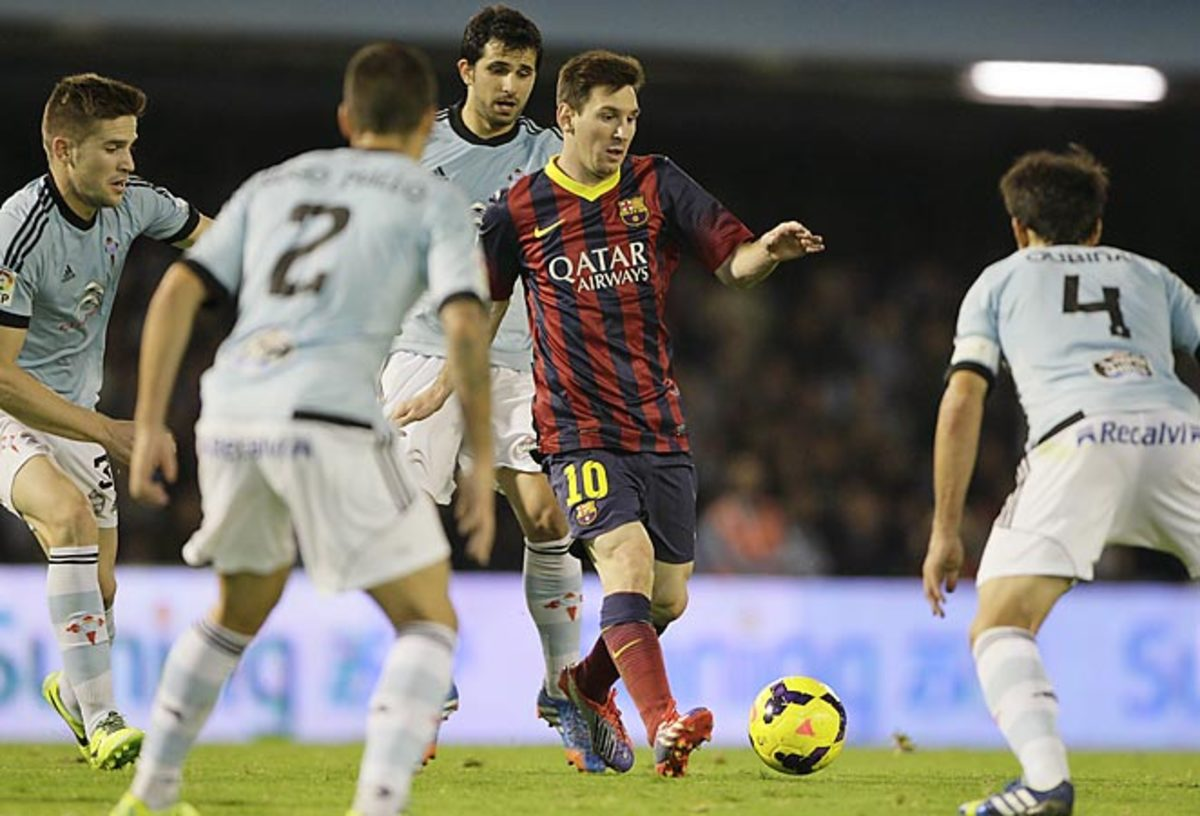 Lionel Messi didn't score a goal, but was instrumental in creating opportunities for teammates in Barca's win.