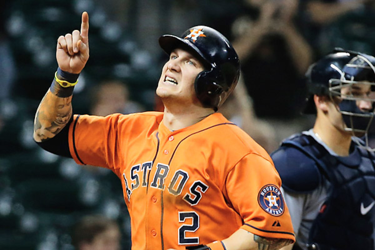 Rookie Brandon Barnes gave the Astros their first cycle since 2006. (Scott Halleran/Getty Images)