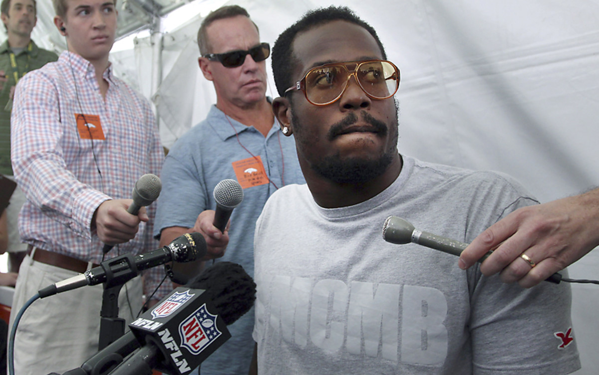 Von Miller was arrested four days before his appeal of a four-game suspension. (Doug Pensinger/Getty Images)