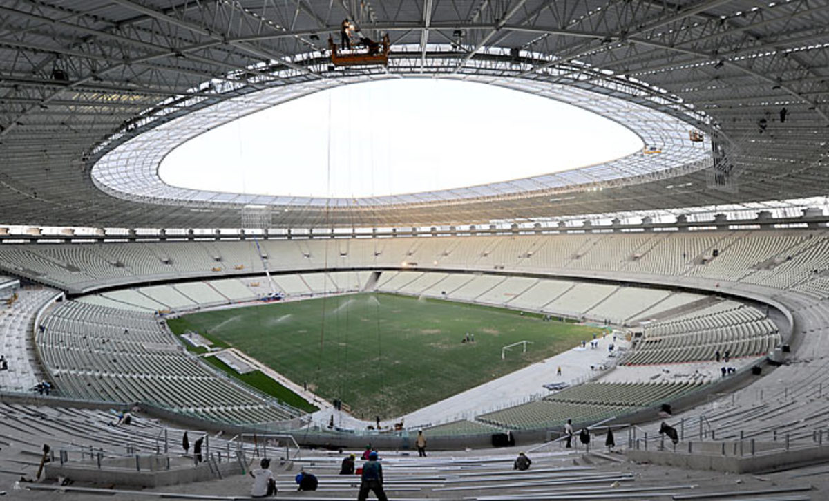 The Arena Castelao in Fortaleza, Brazil, one of six 2014 World Cup stadiums hosting the Confederations Cup in 2013.