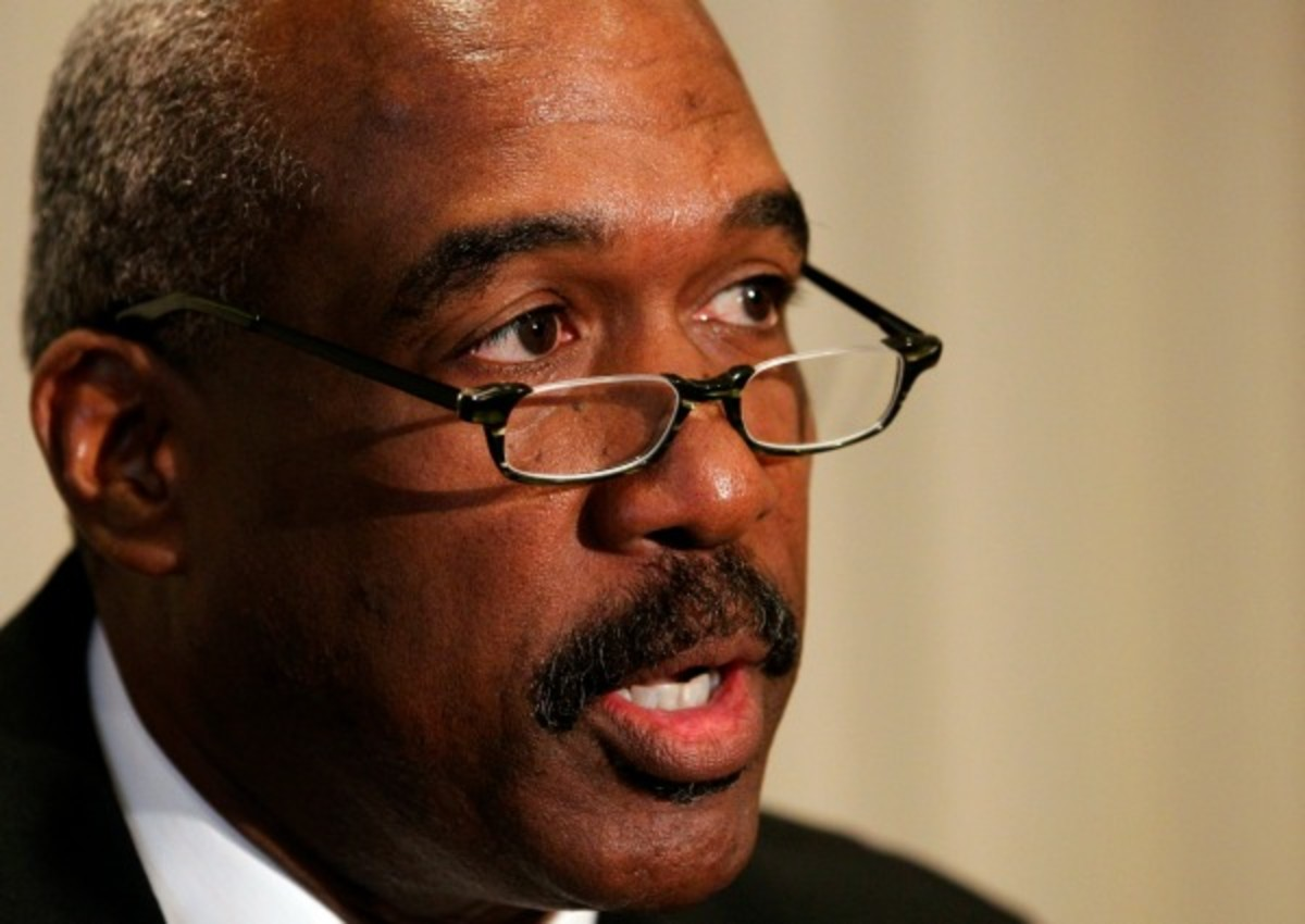 Athletic director Gene Smith said he's happy at Ohio State. (AP)