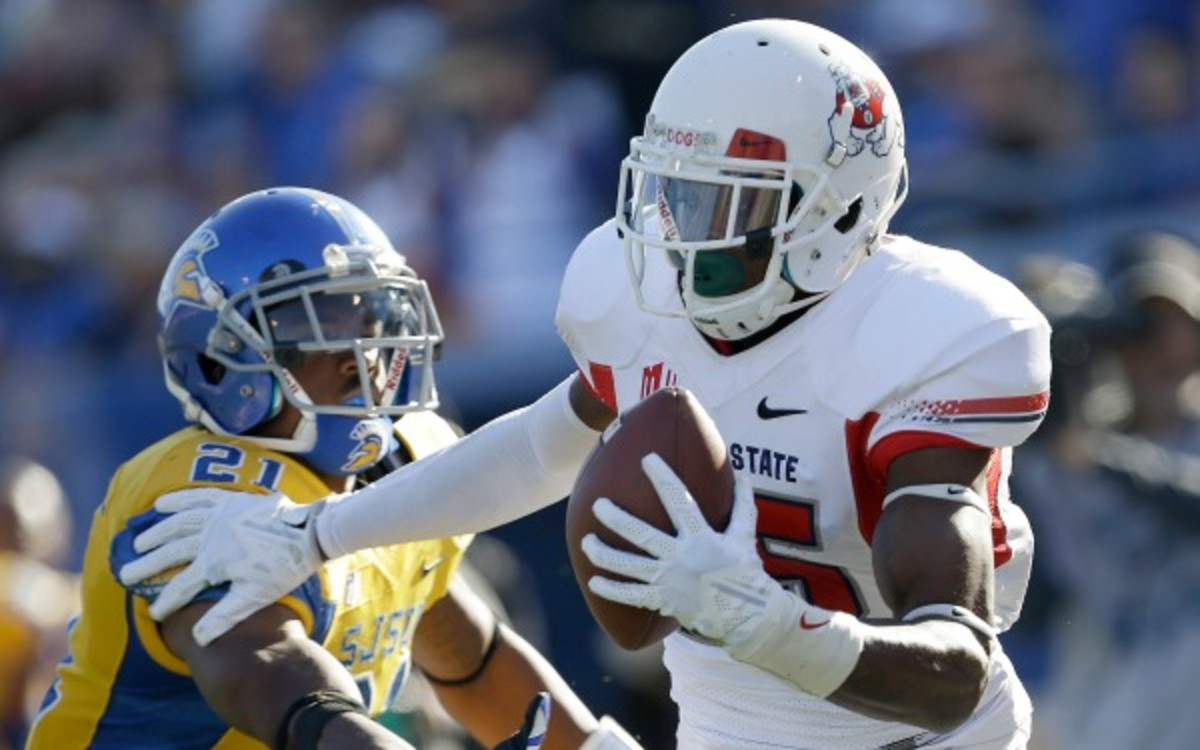 Fresno State receiver Davante Adams led the nation in catches, yards and touchdowns this season. (AP Photo/Tony Avelar)