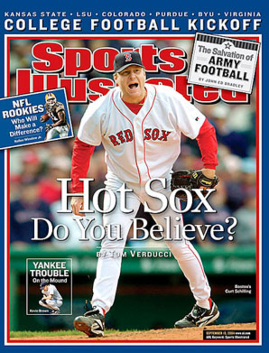 Curt Schilling may be remembered best for his role in helping the Red Sox win the World Series in 2004, their first title in 86 years. (Rob Tringali/SportsChrome)