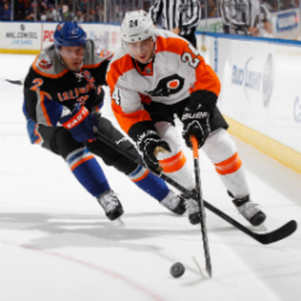 The Flyers' Matt Read will be out for six weeks. (Mike Stobe/Getty Images)