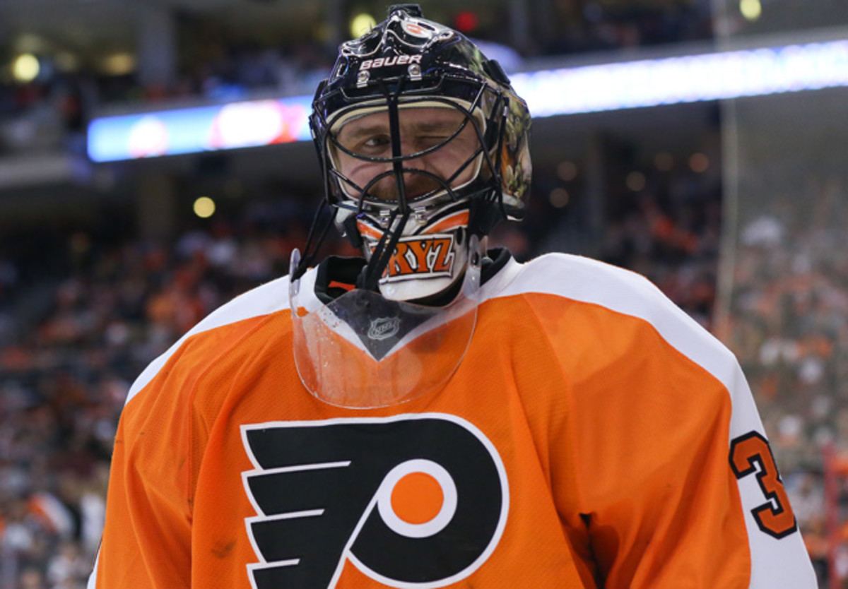 After a strong start in Philadelphia, the chatty Ilya Bryzgalov will no longer mind the net for the Flyers.