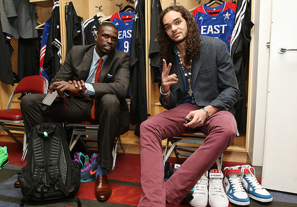 Joakim Noah and Luol Deng before the All-Star Game