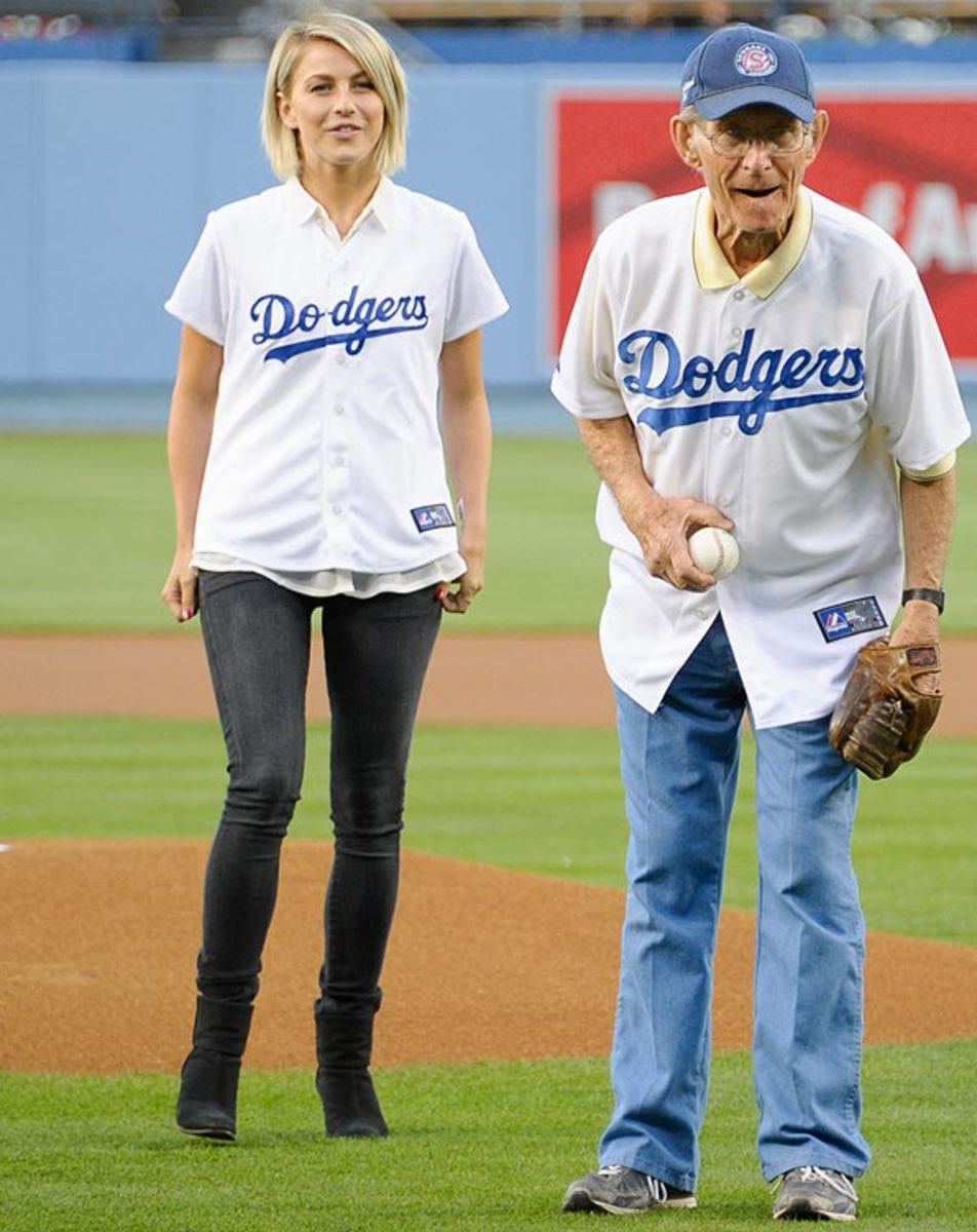 Julianne Hough <br> with her grandfather Bob