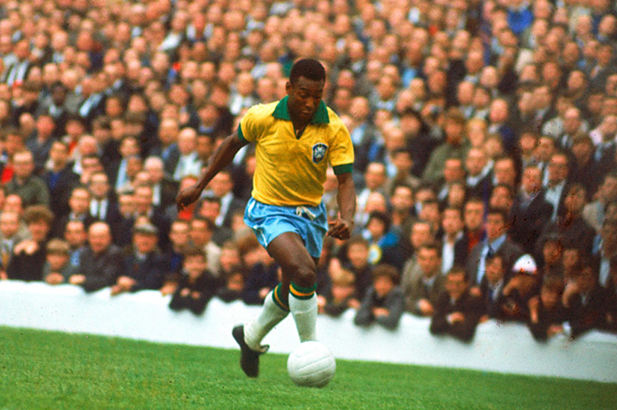 Pele scored over 1,000 career goals and won a record three World Cups for Brazil.