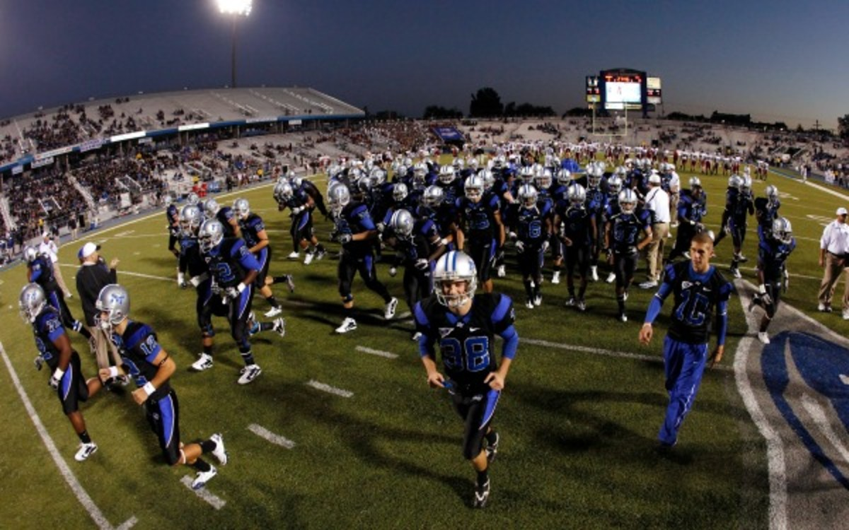 U.S. Marine Steven Rhodes is immediately eligible to play for MTSU. (Joe Robbins/Getty Images)
