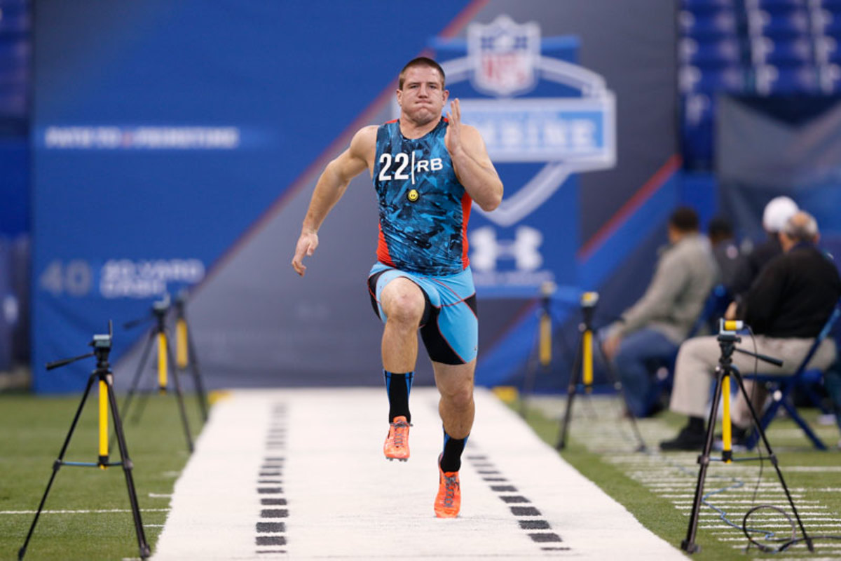 For Line, it was a long road from the February combine to a spot on the Vikings' roster. (Joe Robbins/Getty Images)