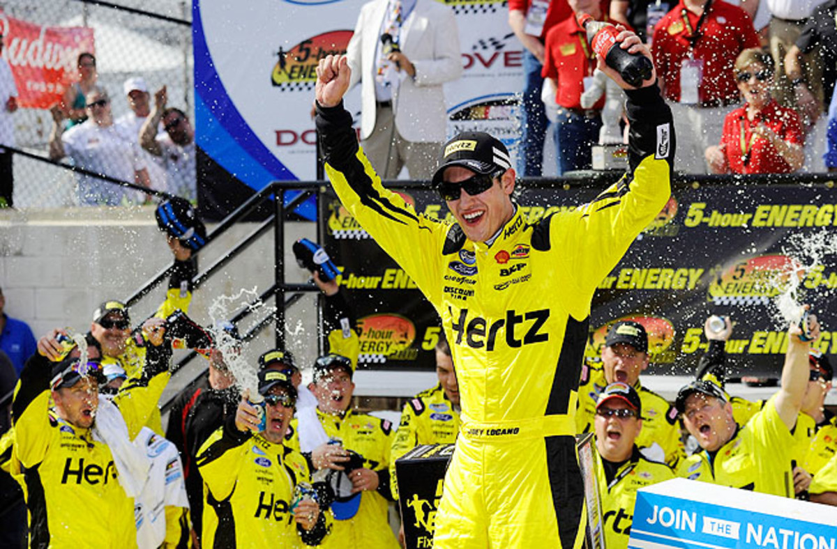 Joey Logano lead the final 34 laps, taking just two tires at his final pit stop in a risk that paid off.