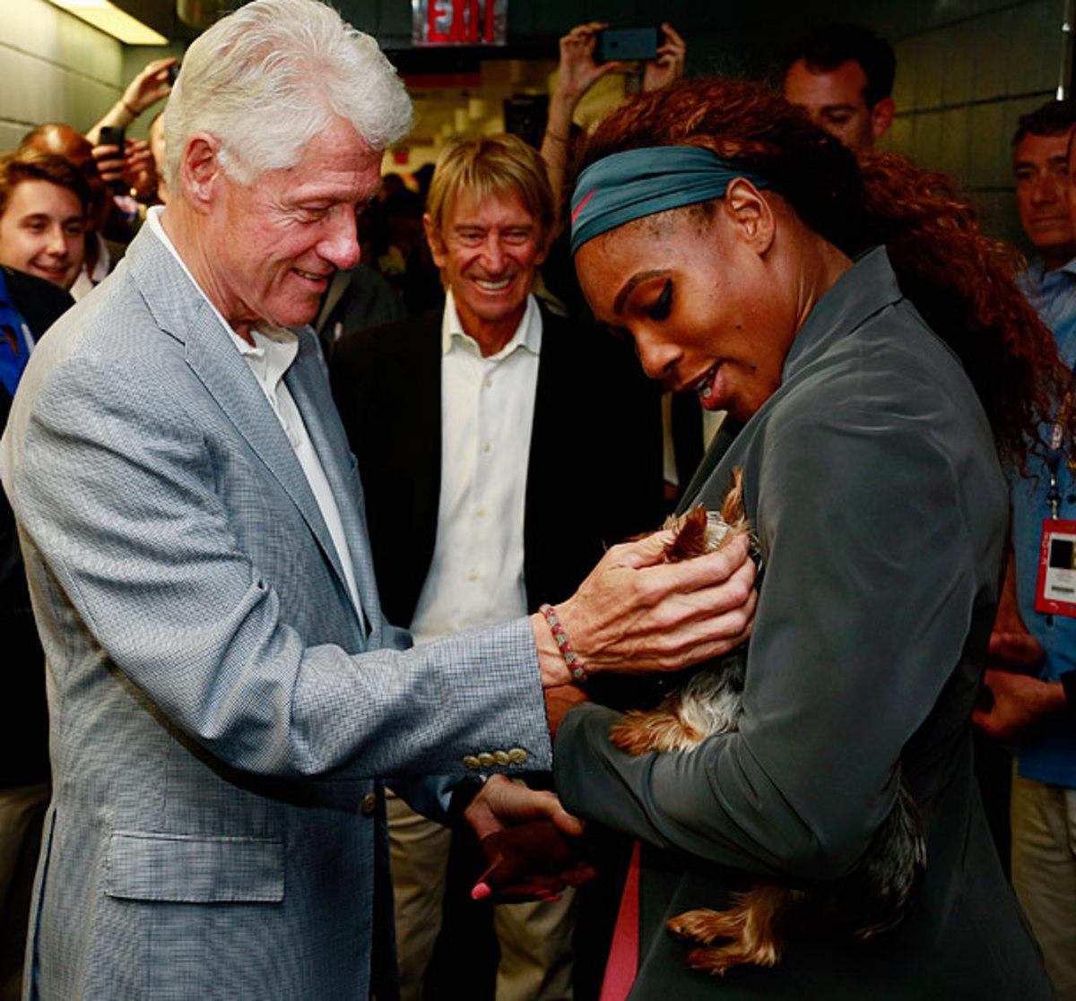 Bill Clinton and Serena Williams