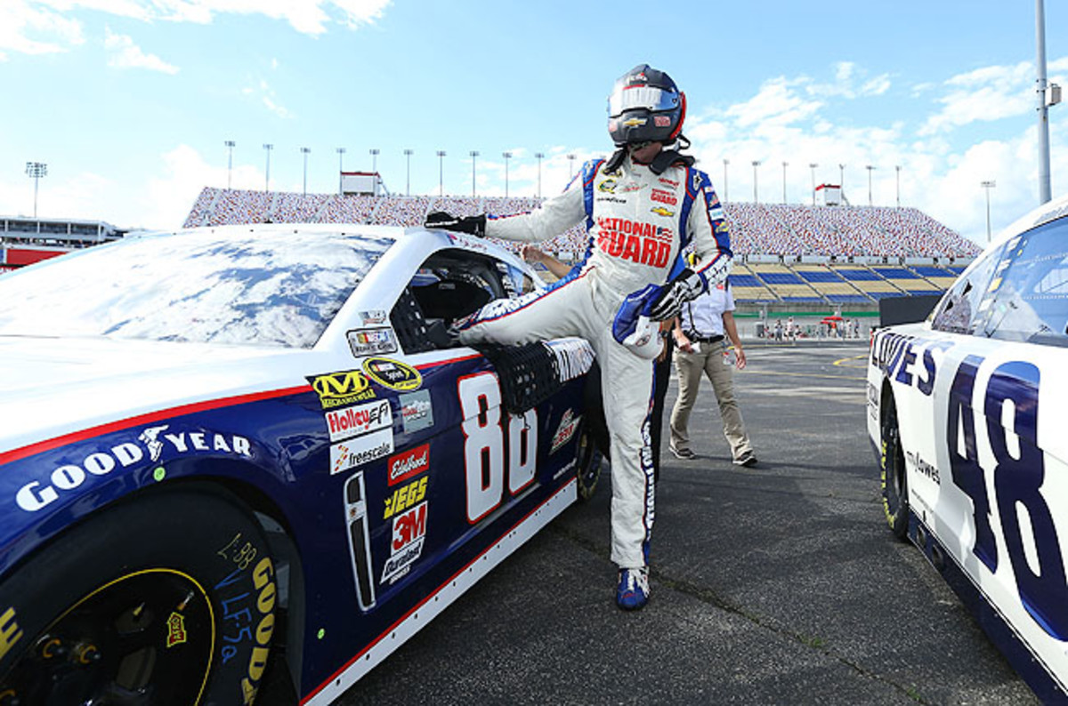 Earnhardt's speed was nearly 2 mph faster than Jimmie Johnson's 181.818 mph last June.