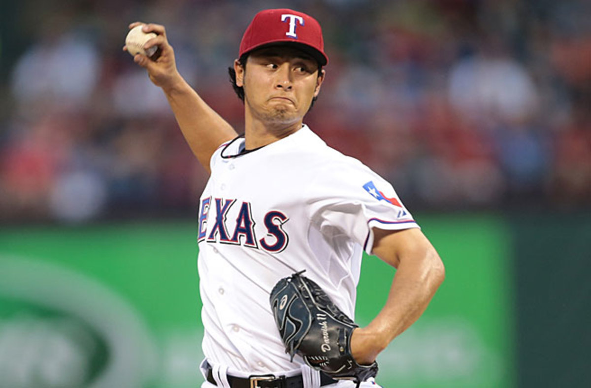 Yu Darvish threw 130 pitches on Thursday and now shares the lead in the majors with seven wins.
