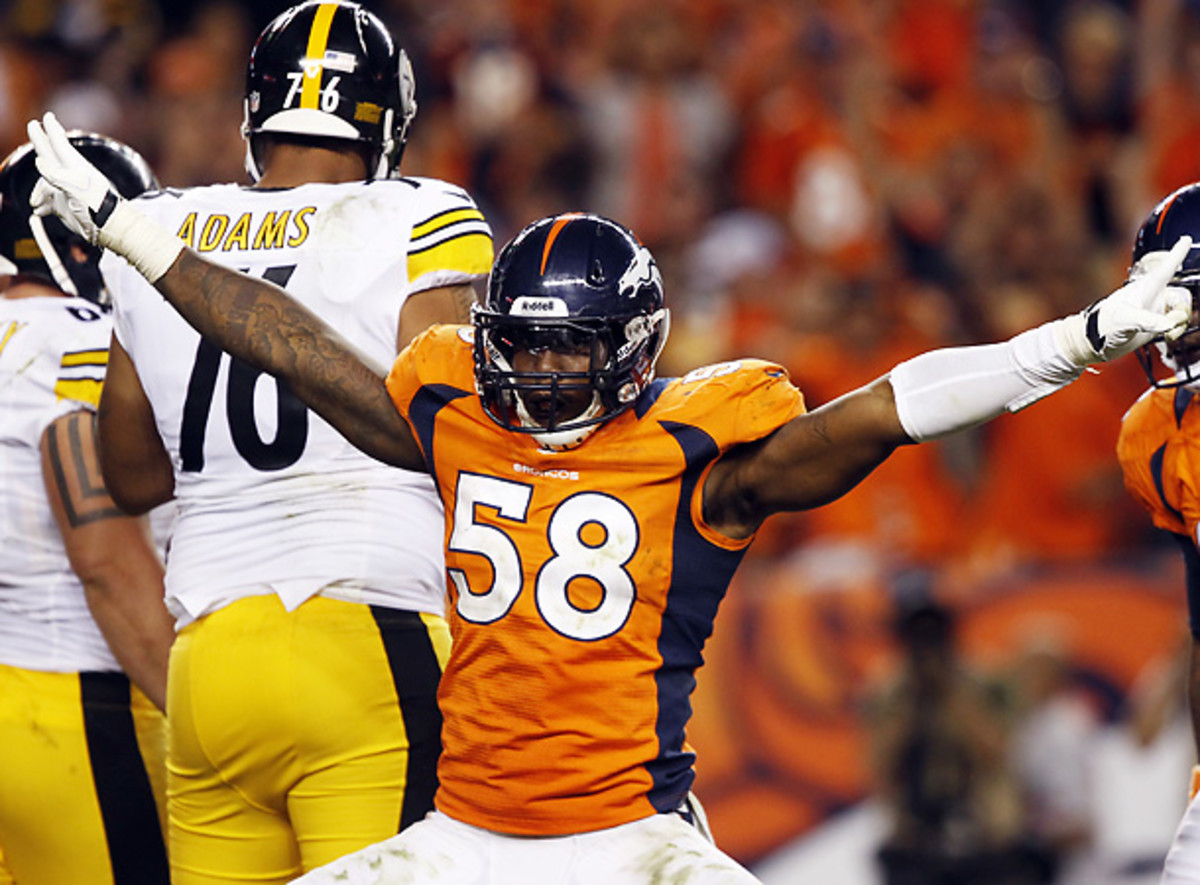 Von Miller's tumultuous relationship with the NFL only worsened after reports he tried to cheat the league's drug testing program. (David Zalubowski/AP)