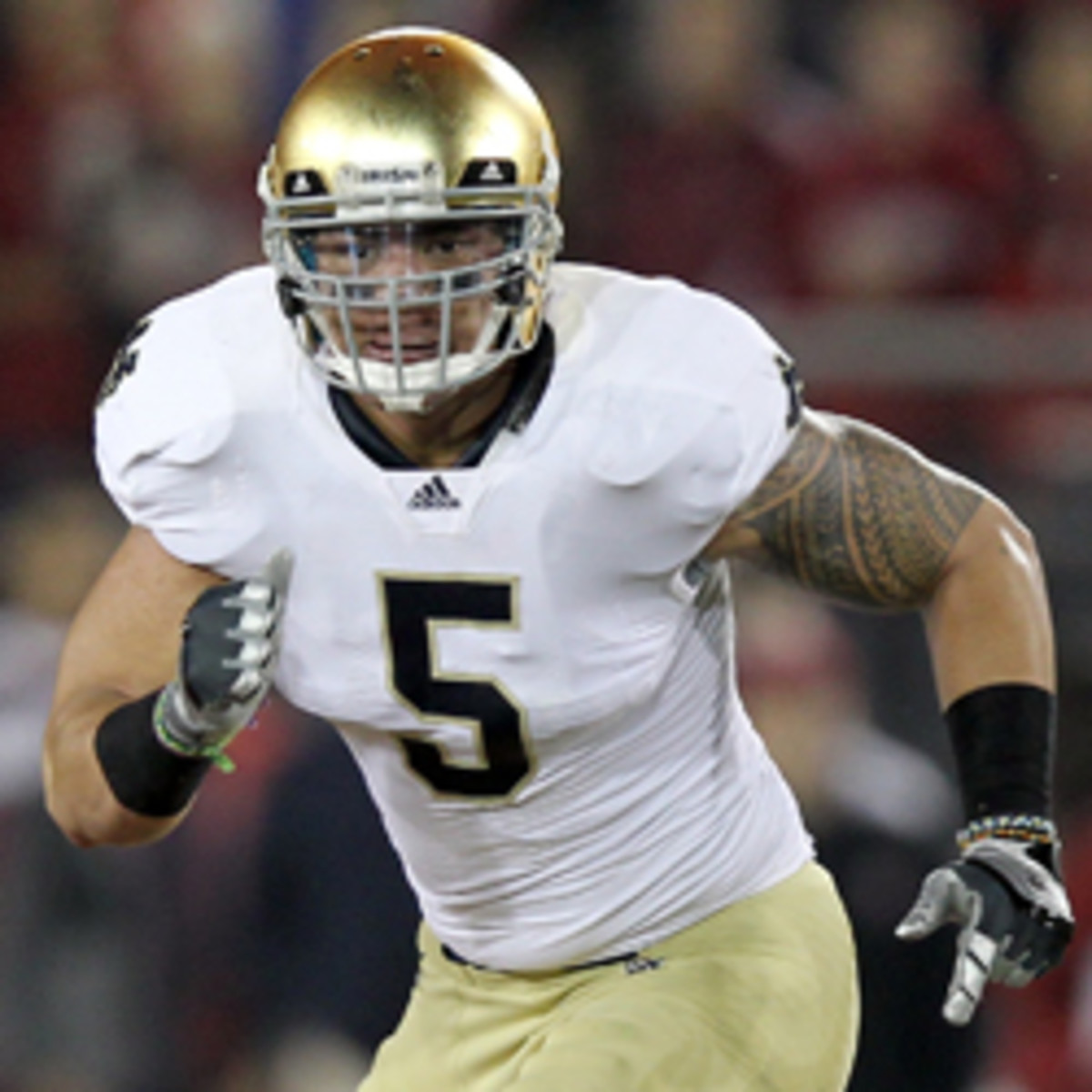 Former Notre Dame LB Manti Te'o is projected to be a late first round pick. (Ezra Shaw/Getty Images)
