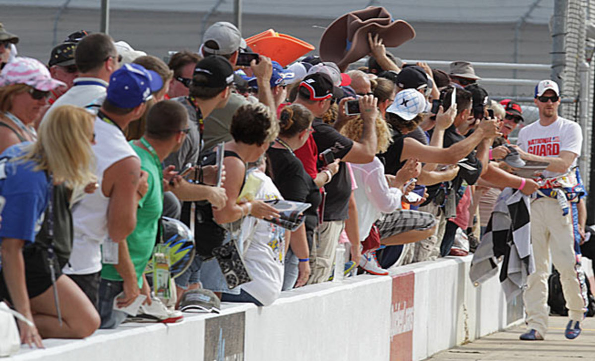 Dale Earnhardt Jr's popularity endures despite his frequent failure to contend for the Sprint Cup title.