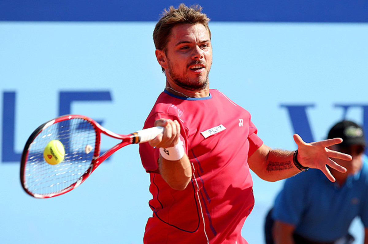 Stanislas Wawrinka defeated Daniel Gimeno-Traver 7-5, 7-6 (4) to move into the quarterfinals.