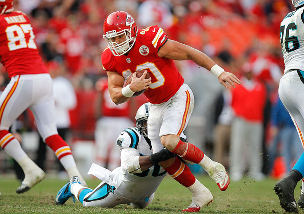 The Buccaneers view Peyton Hillis as a change-of-pace back with the ability to run over defenders.