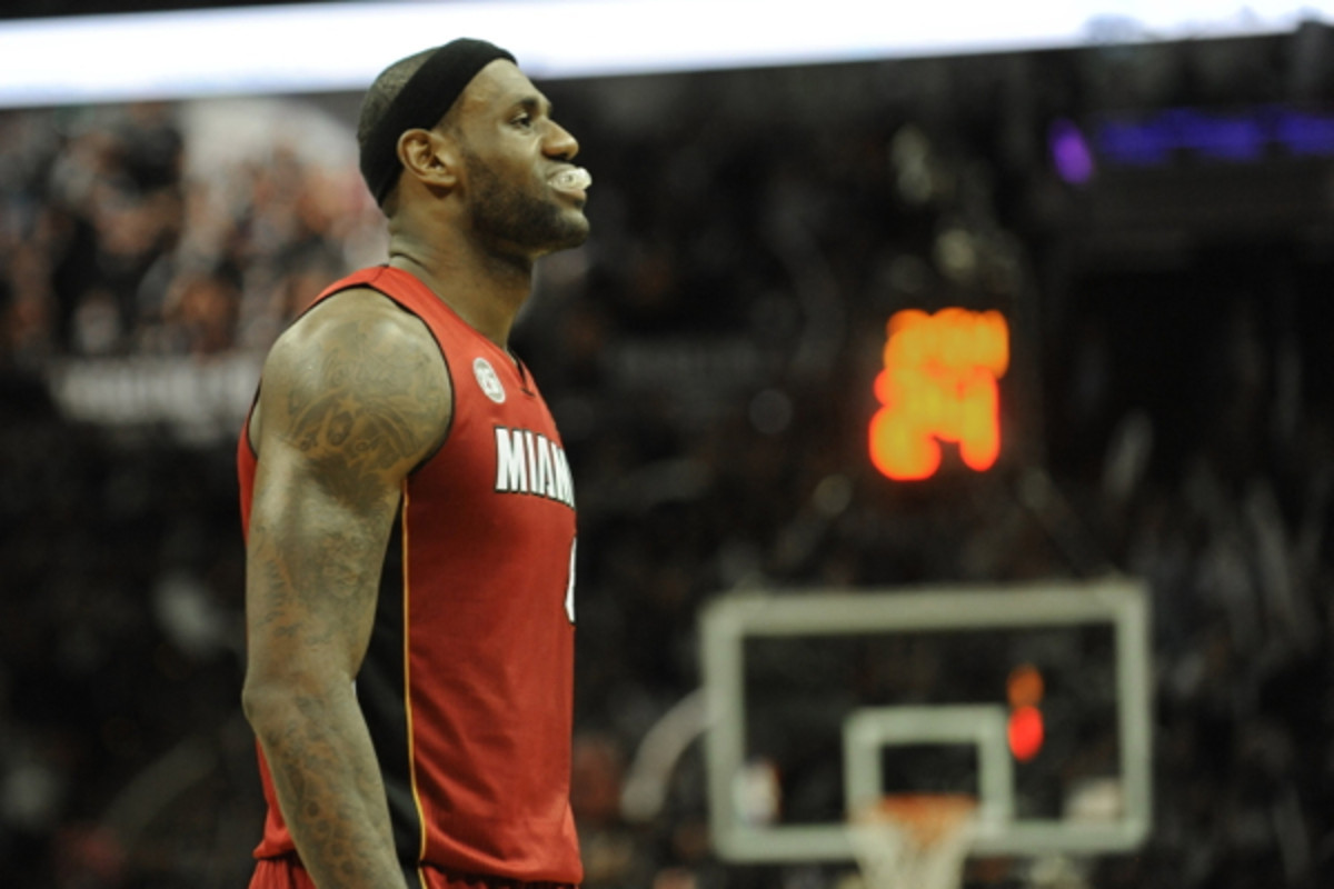 LeBron James has yet to score more than 18 points in the Finals against the Spurs.