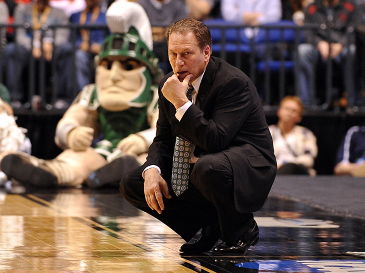Tom Izzo has led the Spartans to six Final Fours over the last 12 years, but hasn't been past the Sweet 16 since 2010. (Lance King/Getty Images)