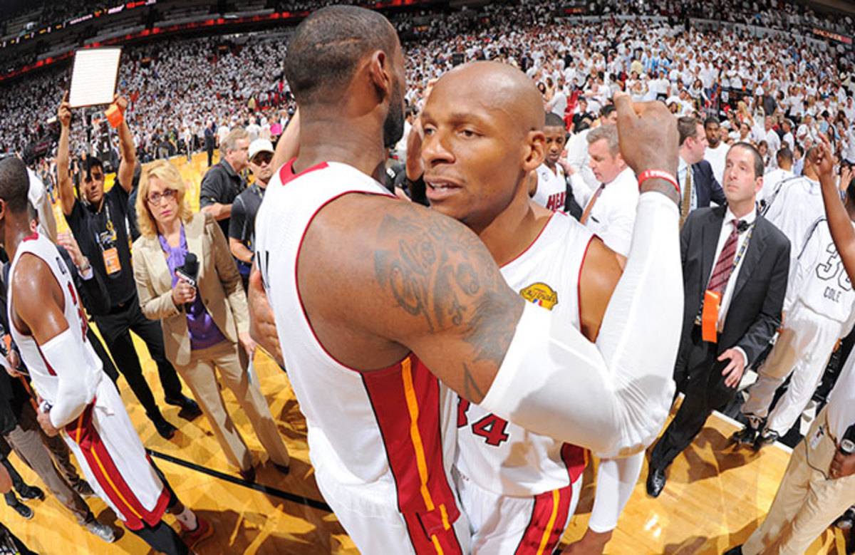 Ray Allen's decision to leave Boston and join LeBron James and Co. in Miami was rewarded with a title.