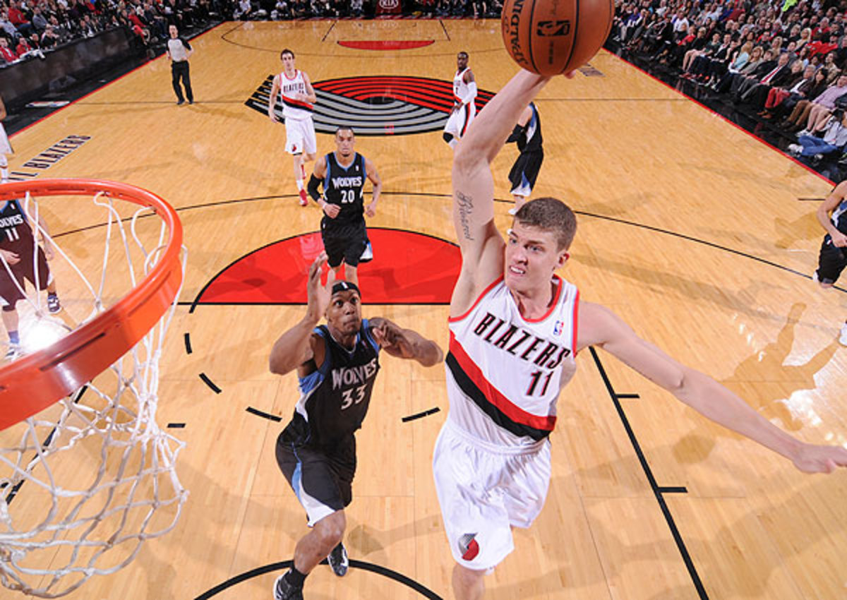 The No. 11 pick in 2012, Meyers Leonard averaged 5.5 points and 3.7 rebounds in 17.5 minutes per game.