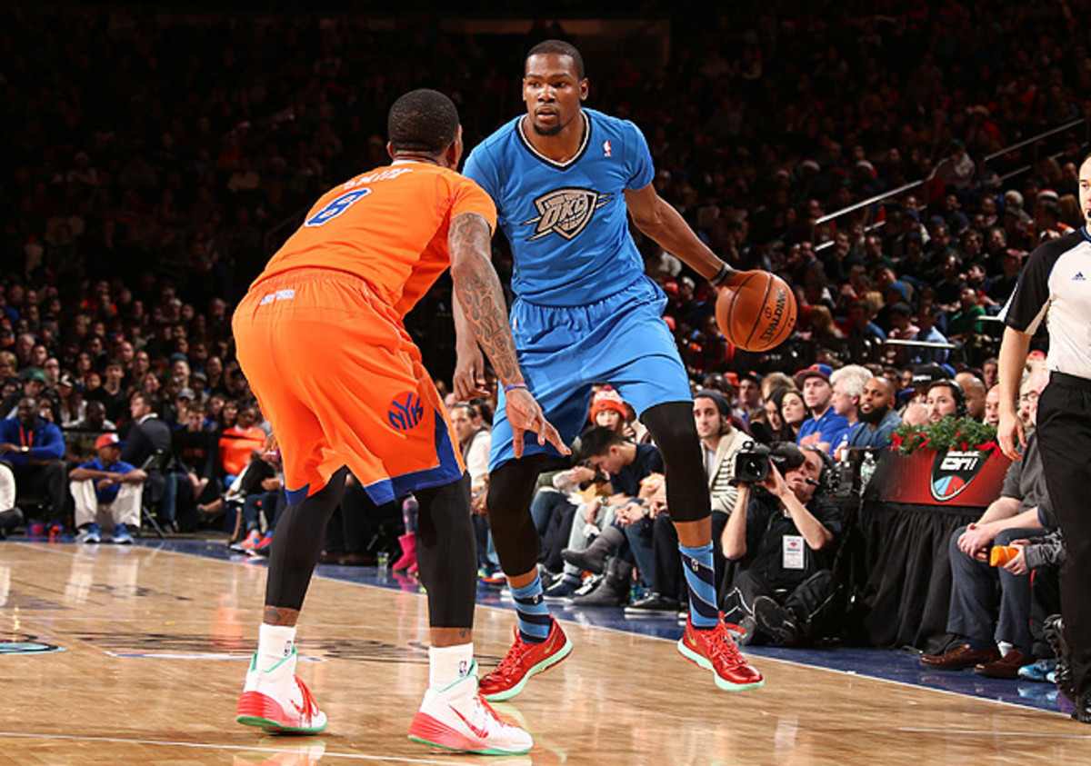 Kevin Durant's continued excellence has helped the Thunder retain their spot as a top squad in the NBA.