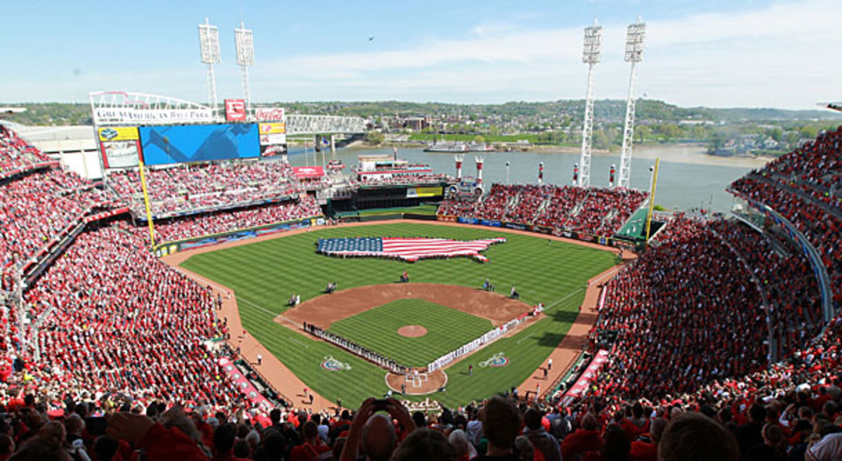 Opening Day has long been a ritual in Cincinnati, where professional baseball began back in 1869. (Andy Lyons/Getty Images)