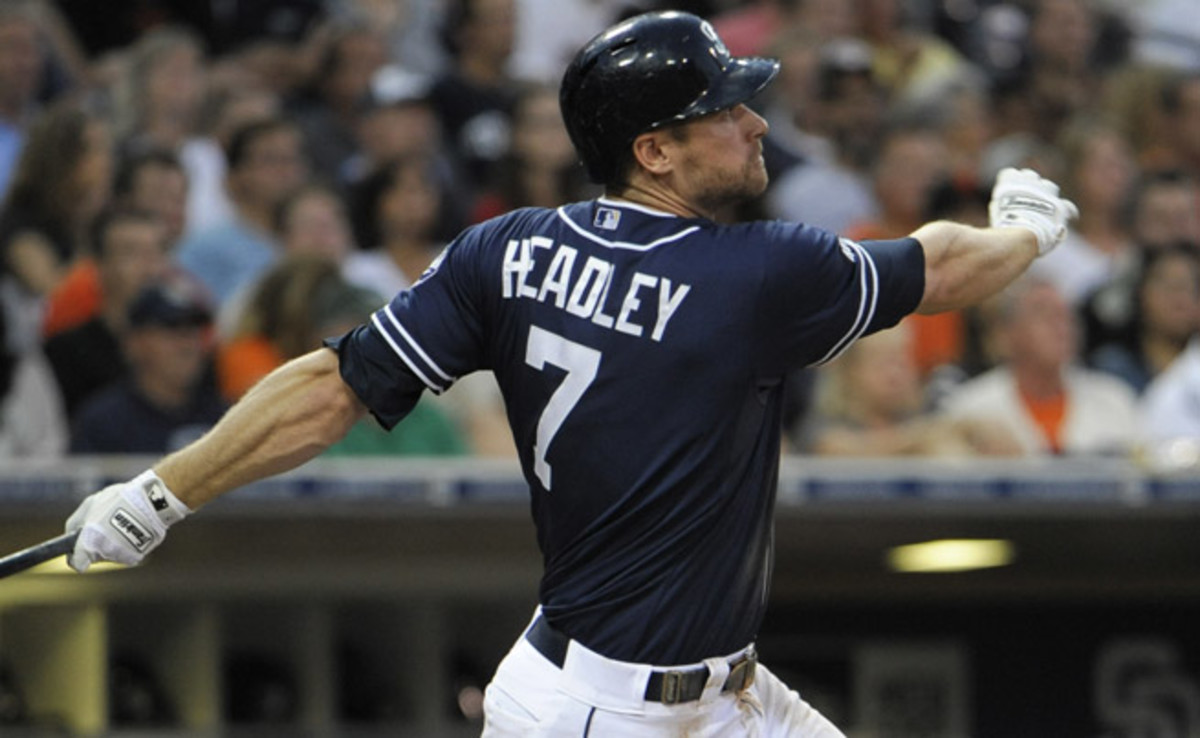 Chase Headley had one of the best seasons in Padres history in 2012, with 31 homers and 115 RBIs.