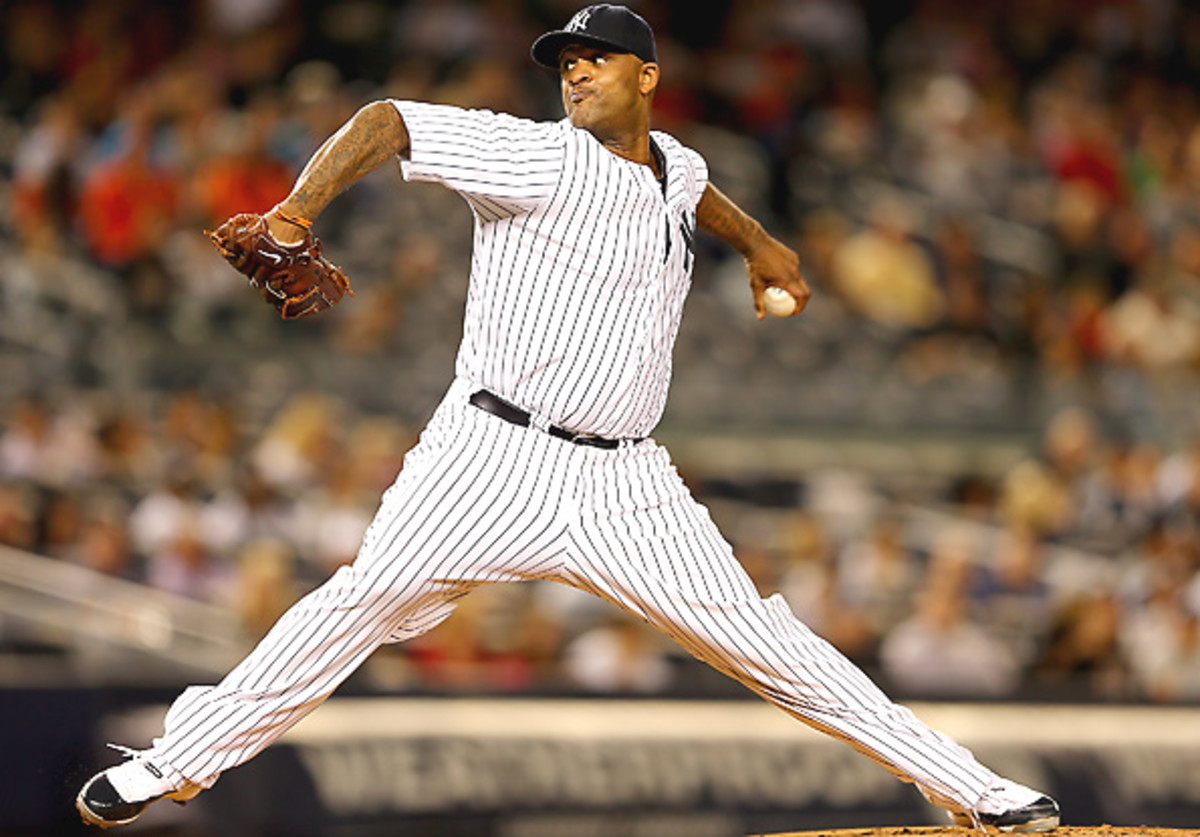 C.C. Sabathia will finish the season with his worst numbers in five seasons with the Yankees.