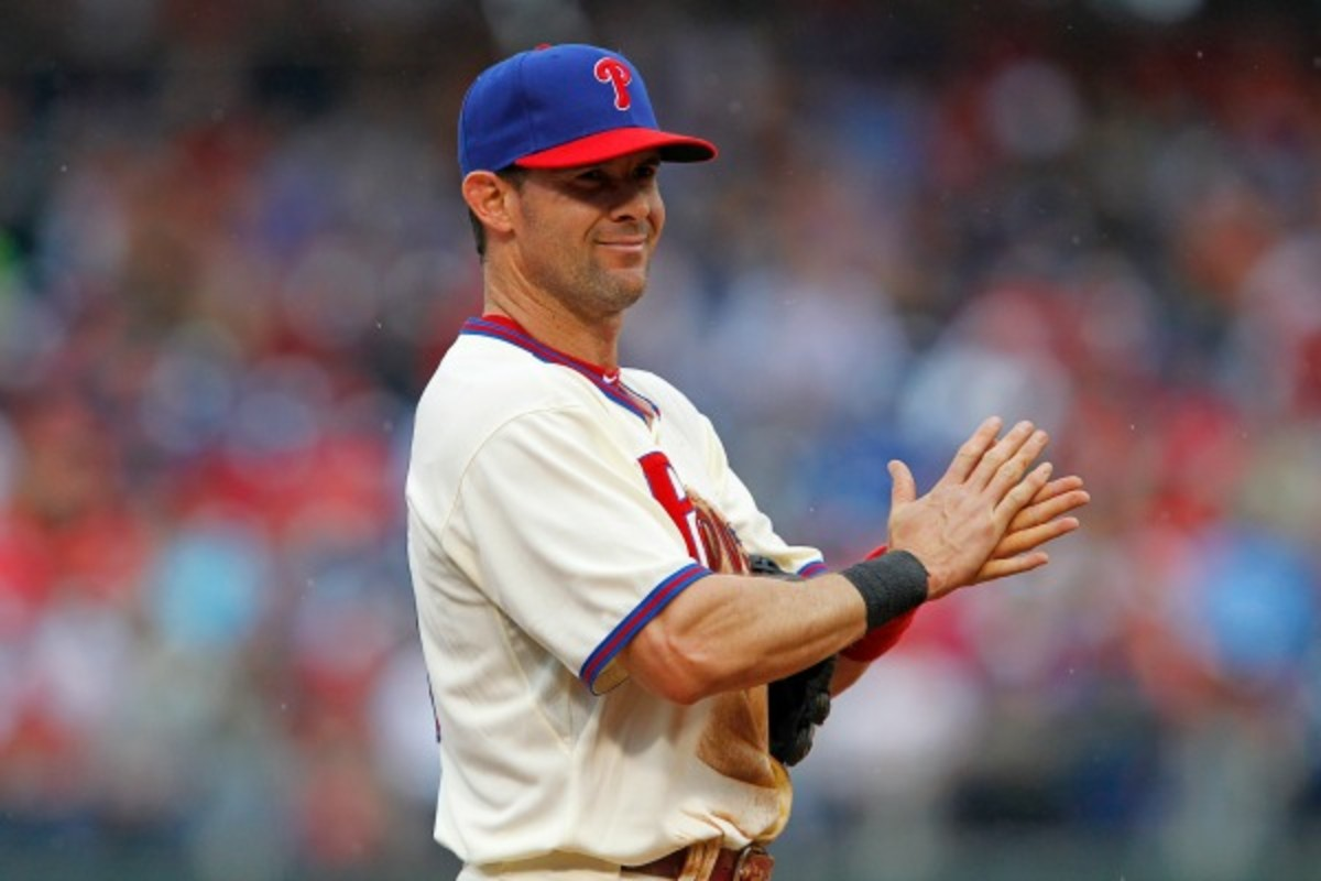 Longtime Rangers leader Michael Young reluctantly accepted a trade to the Phillies last year.  (Hunter Martin/Getty Images)
