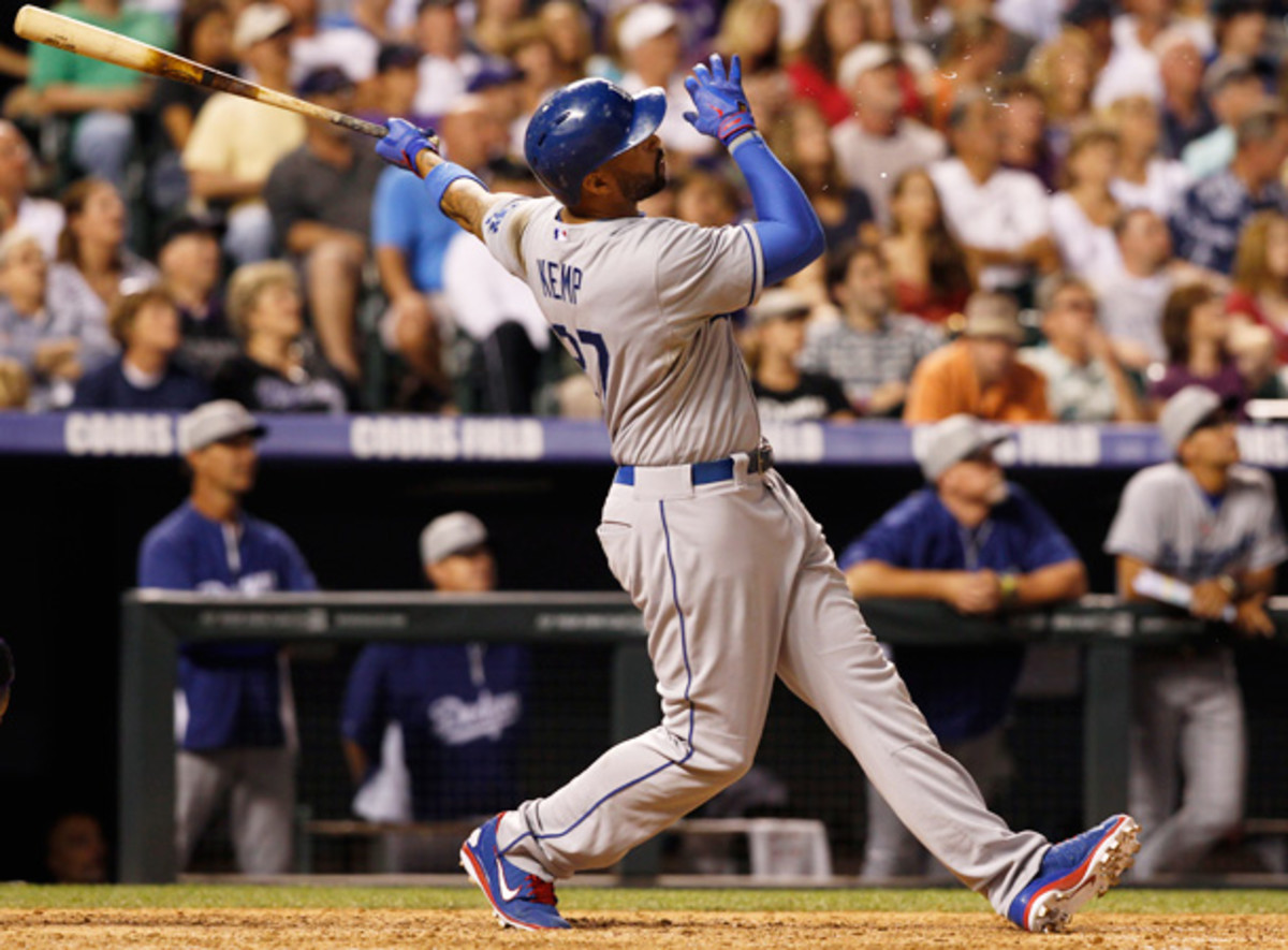 Matt Kemp will return to the Dodgers' lineup on Sunday against the Washington Nationals. [AP]